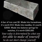 You determine your value.