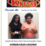 Chicken King Player of the Week-Girls Tennis