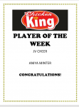 Chicken King Athlete of the Week