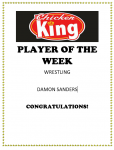 Chicken King Player of the Week