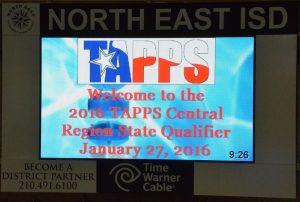TAPPS REGIONAL SWIM MEET 1-27-15