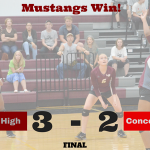 Mustangs Outlast Cardinals in Five Sets!