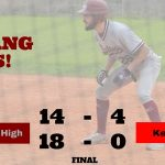Boys Varsity Baseball beats Keystone 18 – 0