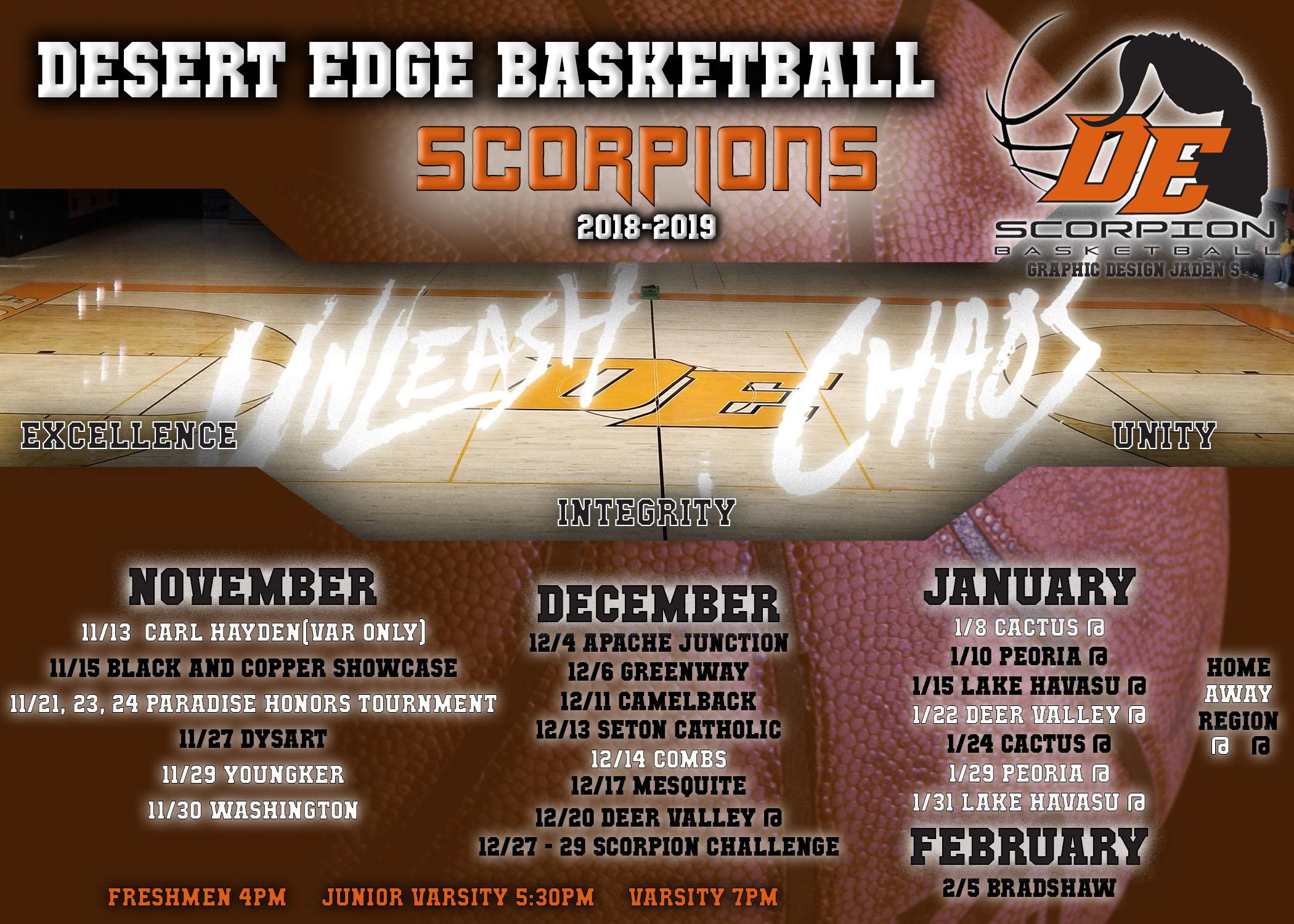 DE Boys Basketball Schedule