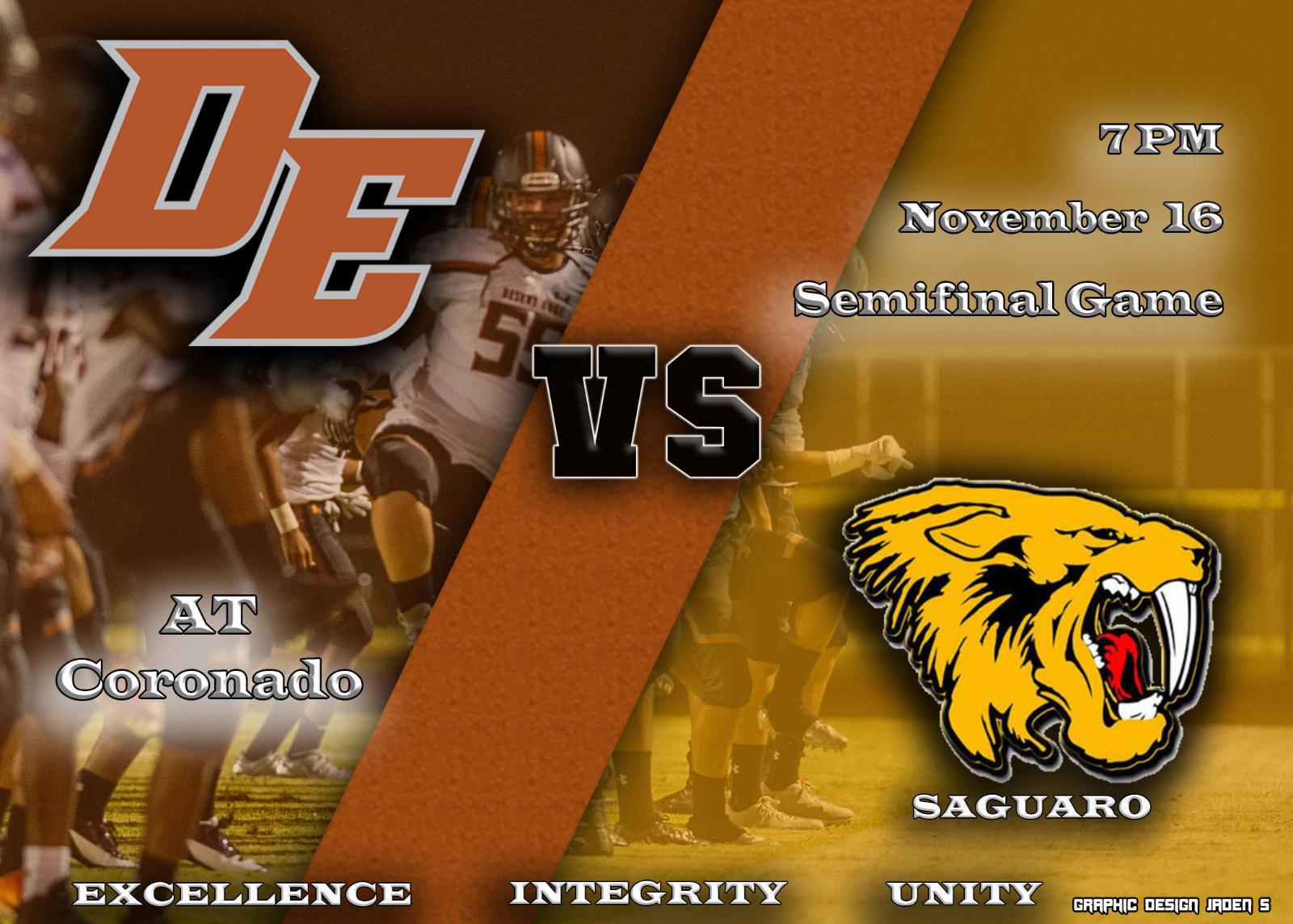DE vs Saguaro Playoff Game Friday at 700pm!