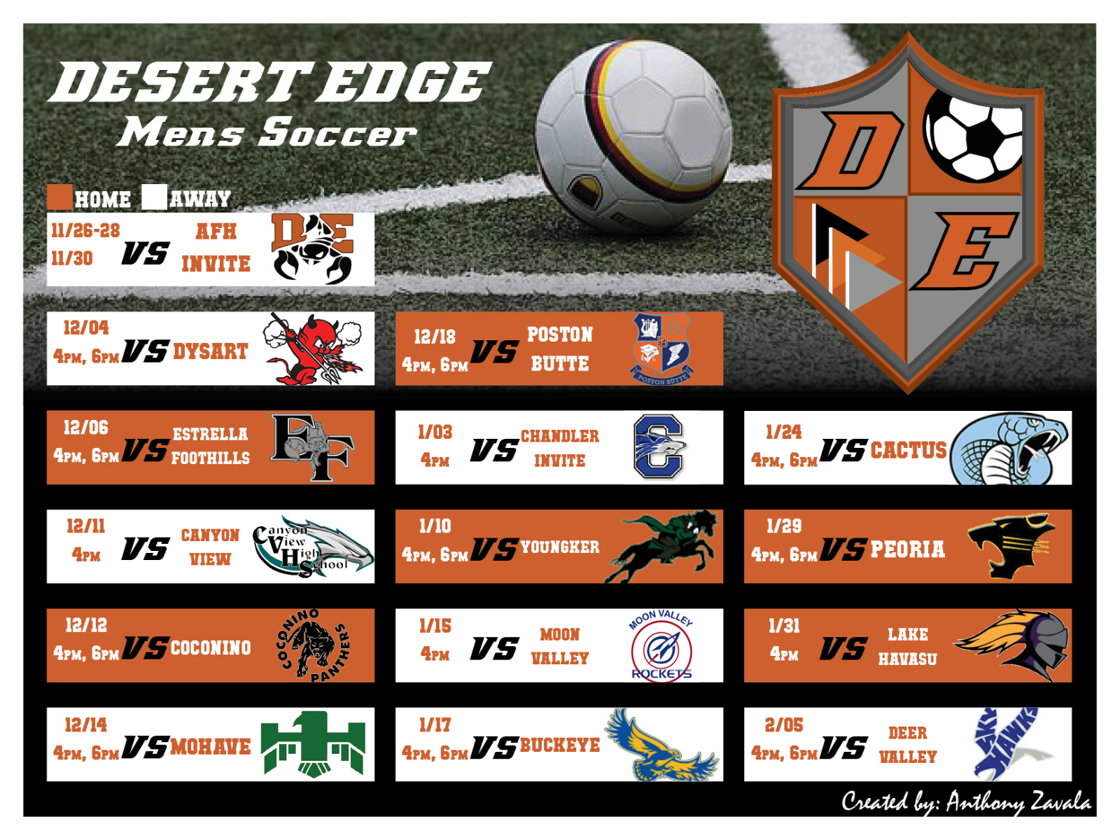 Check Out Our Boys Soccer Schedule