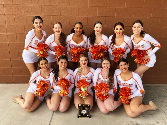 Varsity Pom competed in final round of the United Spirit Association National Championships in Anaheim, CA