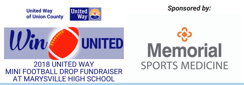 United Way Football Drop Event