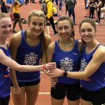 Lady Monarch 4×800 places 21st at Indoor State Championships