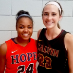 Hope's Angelique Gaddy, Calvin's Anna Timmer reunited after rivalry