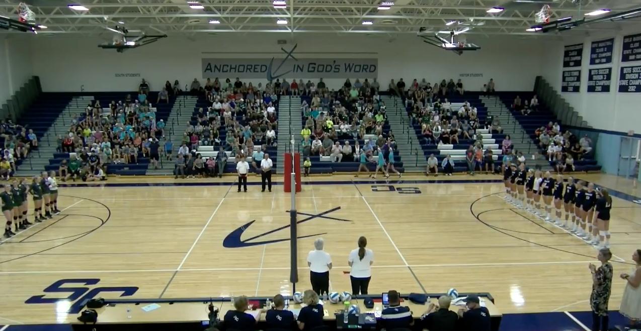 VIDEO: Varsity Volleyball – Wayland at South Christian 9/14/17