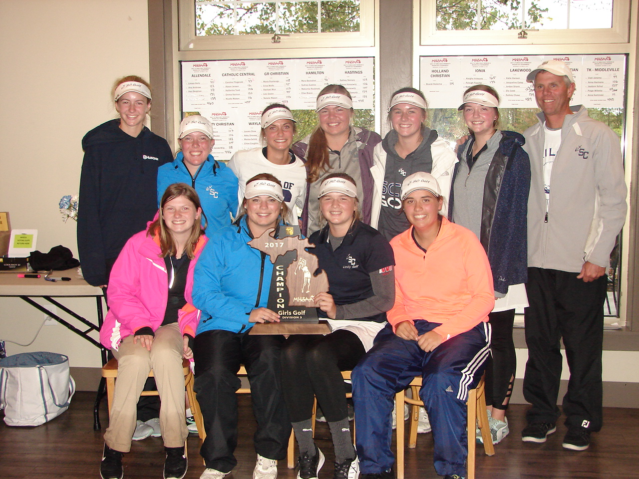 Girls Golf crowned as Regional Champions, qualify for MHSAA State Finals