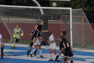 Lady Sailors Varsity Soccer vs GR Chr, victory 1-0