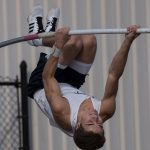 Sailors battle conditions at State, DeVries vaults to a title