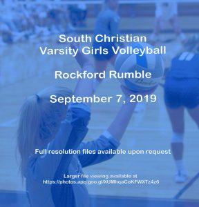 Varsity Girls Volleyball – Rockford Rumble – Sept 7, 2019