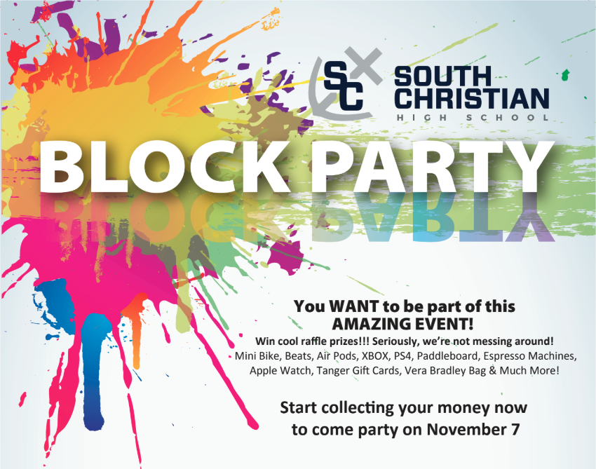 Student Led Fundraiser – SCHS Block Party!