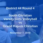 Varsity Girls Volleyball vs Grand Rapids Christian - Nov 7, 2019