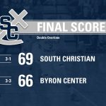 Boys Varsity Basketball beats Byron Center 69 – 66 in 2OT