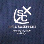 Varsity Girls Basketball vs Unity - January 17, 2020