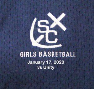 Varsity Girls Basketball vs Unity – January 17, 2020