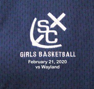 Varsity Girls Basketball vs Wayland – February 21, 2020