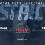 Boys Varsity Basketball beats Hastings 58 – 40