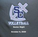 Varsity Girls Volleyball Senior Night, October 6, 2020