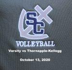 Varsity Girls Volleyball vs Thornapple-Kellogg, October 13, 2020