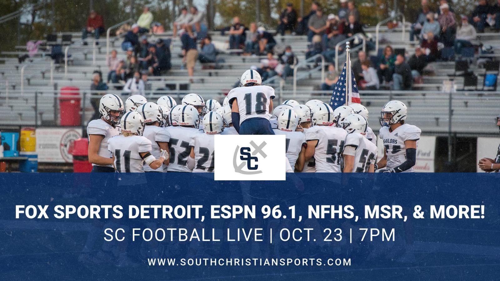 Varsity Football vs. Catholic Central on 10/23 – Ways to Watch or Listen