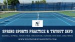 Spring Sports Tryout & Practice Information