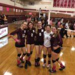 Nutley High School Girls Varsity Volleyball beat Cedar Grove High School 2-0