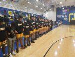Varsity Boys Basketball with win over NMB 59-55