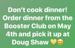 Booster Club Spring Dinner is May 4…get your tickets now!