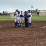 Varsity Softball Gets Win with Runs Late