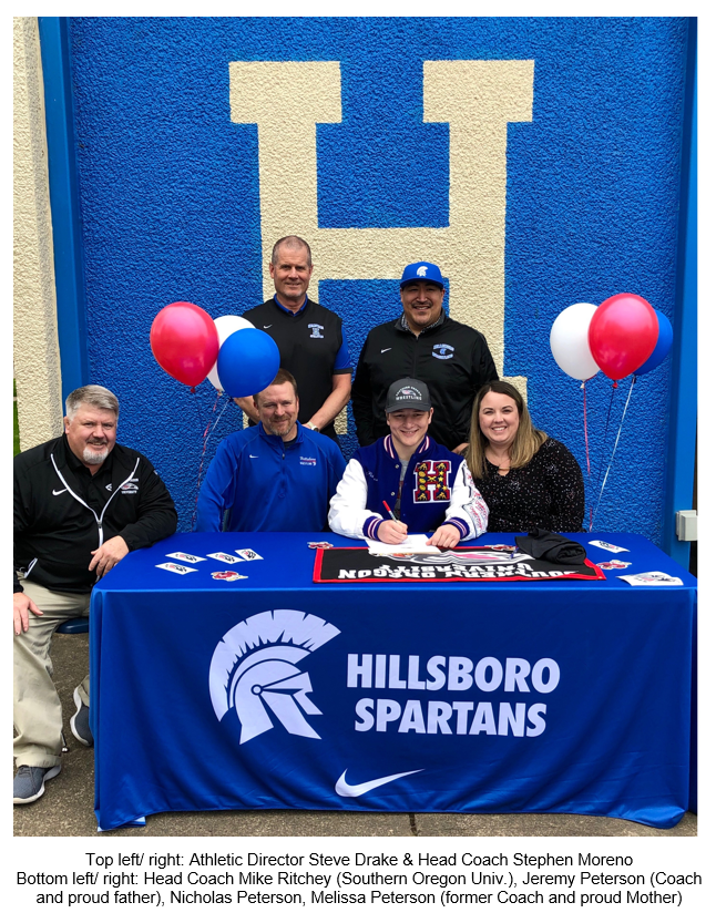 Nick Peterson – Signs letter of intent for SOU