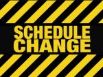 GBB Schedule Change