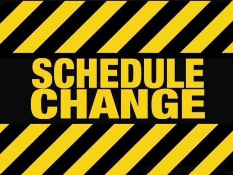 South Put Schedule Changes