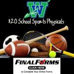 Final Forms Update & Sports Physicals – Thursday, July 25th from 6- 7 pm.