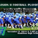Football Regional Semi-Finals: Warriors Looking to Pounce on Panthers Friday, November 9th, 7 pm –