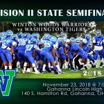 DIVISION II STATE SEMIFINALS:  FRIDAY, NOVEMBER 23, PreSale Tickets