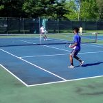 Boys Varsity Tennis loses tight one to Badin 2-1