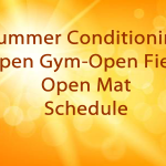 High School and Middle School Summer Conditioning & Open Gym Schedules