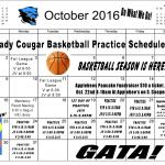 October Practice Schedule