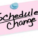 Spring Schedule Changes