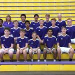 The Marion Giant Boys Tennis team battles Delta