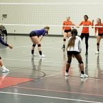 Marion Lady Giant Volleyball plays at Southwood Invitational