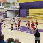 Marion Lady Giant Volleyball falls to Eastbrook