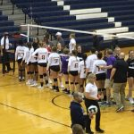 Marion Lady Giant Volleyball battles in Sectional