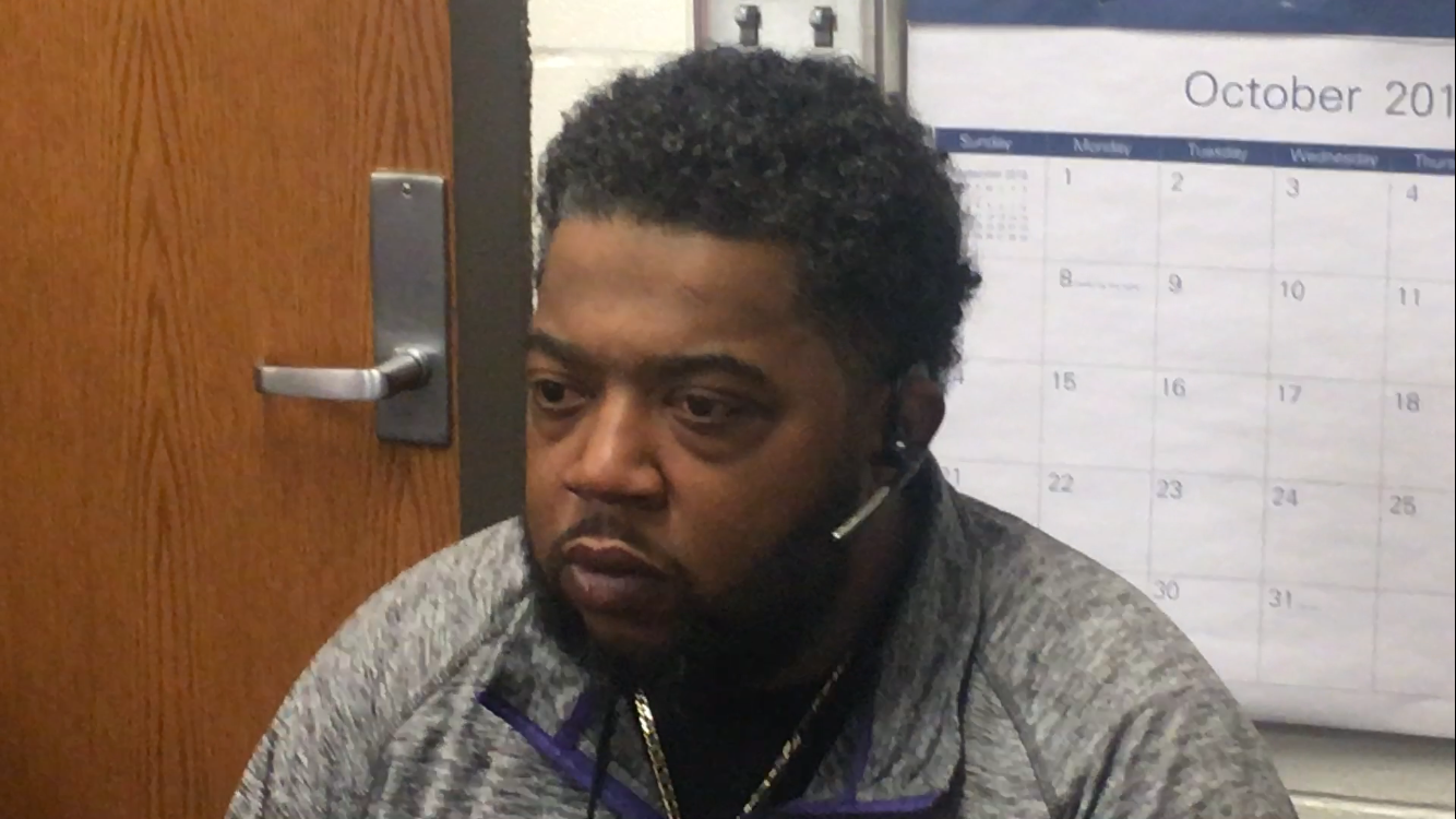 Marion Giant Football Head Coach Craig Chambers previews tonight's Sectional game (10/19/18)