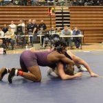 Marion Giant Wrestlers in action at the Oak Hill Sectional 1/26